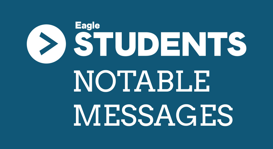 Notable Student Messages